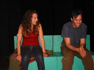 with Carrie Reeves (Sara) and Paul Conway (Ethan) DEAD GIRL'S DIARY, Playwrights 6, 2002